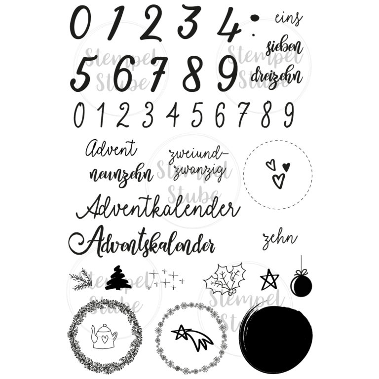 Stempelset Adventskalender - Stempelstube | Unsere kleine Bastelstube - DIY Bastelideen für Feste & Anlässe