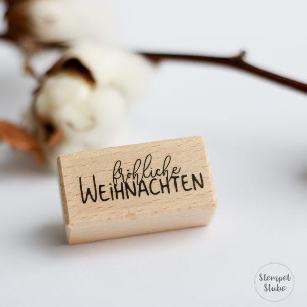 Holzstempel fröhliche Weihnachten | Unsere kleine Bastelstube - DIY Bastelideen für Feste & Anlässe