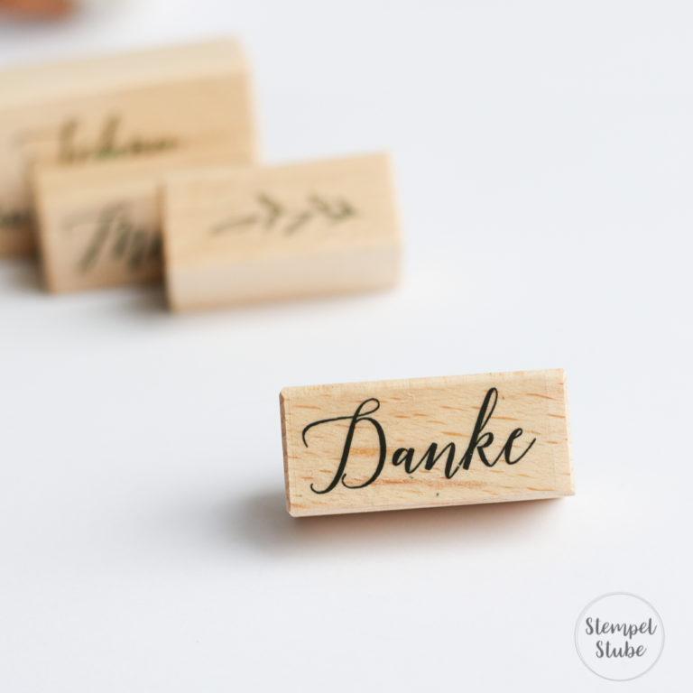Holzstempel Danke | Unsere kleine Bastelstube - DIY Bastelideen für Feste & Anlässe