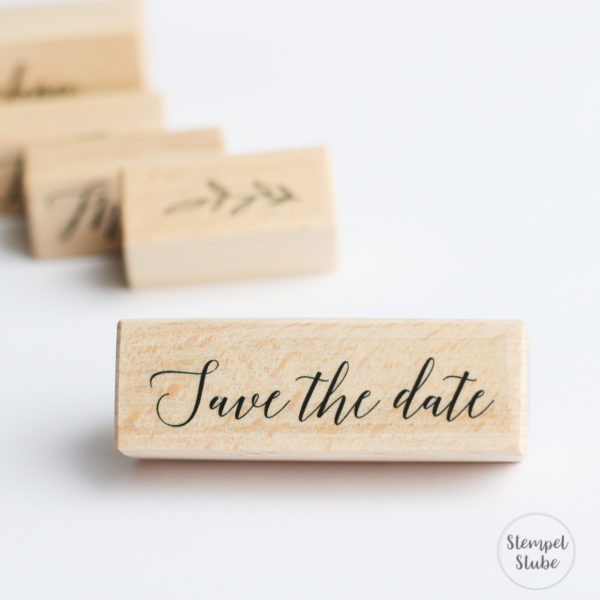 Holzstempel Hochzeit Save the Date | Unsere kleine Bastelstube - DIY Bastelideen für Feste & Anlässe