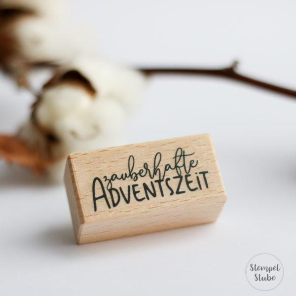 Holzstempel zauberhafte Adventszeit | Unsere kleine Bastelstube - DIY Bastelideen für Feste & Anlässe