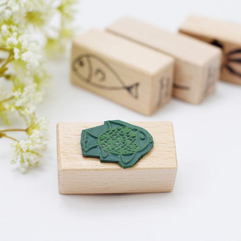 Holzstempel Fisch gemustert Kommunion Firmung Taufe   Unsere kleine Bastelstube - DIY Bastelideen für Feste & Anlässe