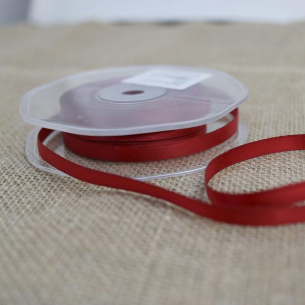 Doppelsatinband Rot 6mm | Unsere kleine Bastelstube - DIY Bastelideen für Feste & Anlässe