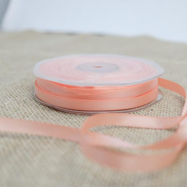 Doppelsatinband Zartes Orange 6mm | Unsere kleine Bastelstube - DIY Bastelideen für Feste & Anlässe
