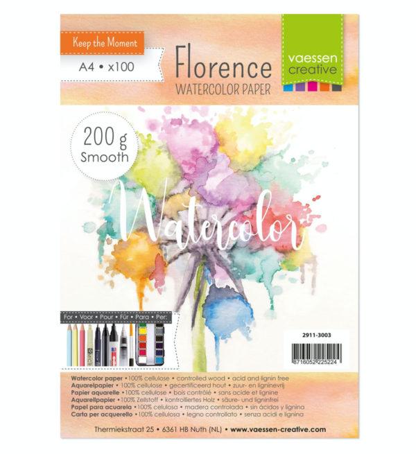 Florence - Aquarellpapier Smooth200g A4 10 Blatt | Unsere kleine Bastelstube - DIY Bastelideen für Feste & Anlässe