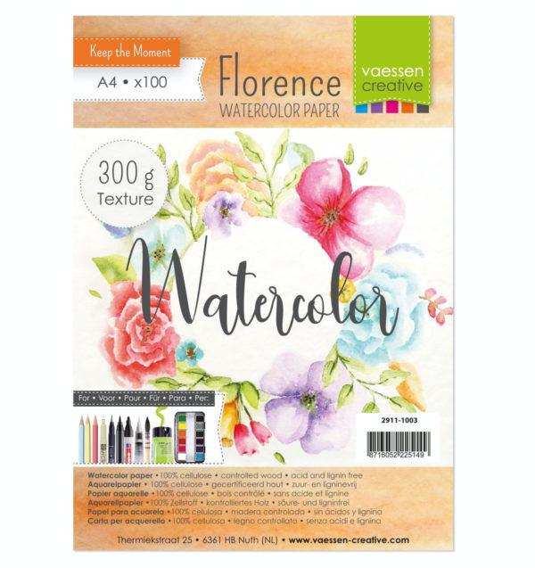 Florence - Aquarellpapier Texture 10 Blatt (300g A4) | Unsere kleine Bastelstube - DIY Bastelideen für Feste & Anlässe