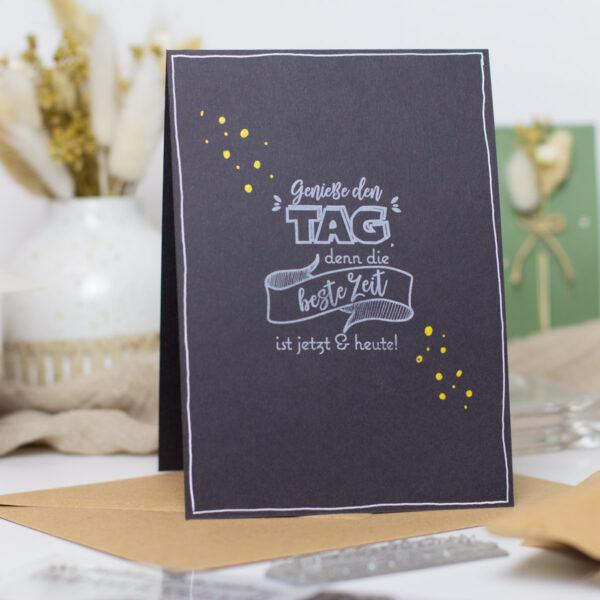 Karte zum Geburtstag selber basteln - chalk