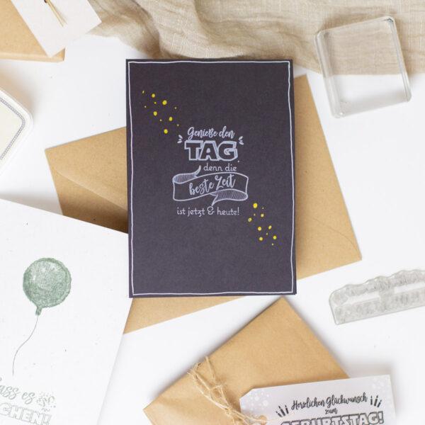 Stempelset Lass es Krachen - Stempelstube | Unsere kleine Bastelstube - DIY Bastelideen für Feste & Anlässe