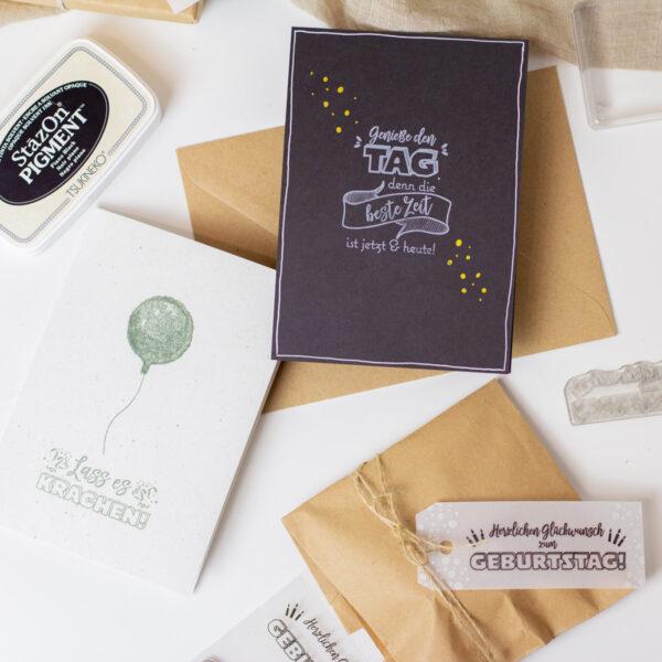 Karten selber basteln zum Geburtstag - schnell und einfach