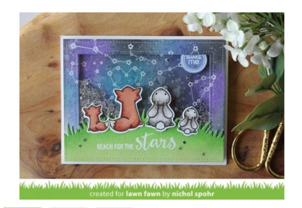 Lawn Fawn Upon a Star Clear Stamps Set | Unsere kleine Bastelstube - DIY Bastelideen für Feste & Anlässe