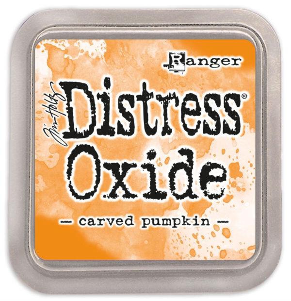 Distress oxide carved pumpkin - Tim Holtz Ranger | Unsere kleine Bastelstube - DIY Bastelideen für Feste & Anlässe