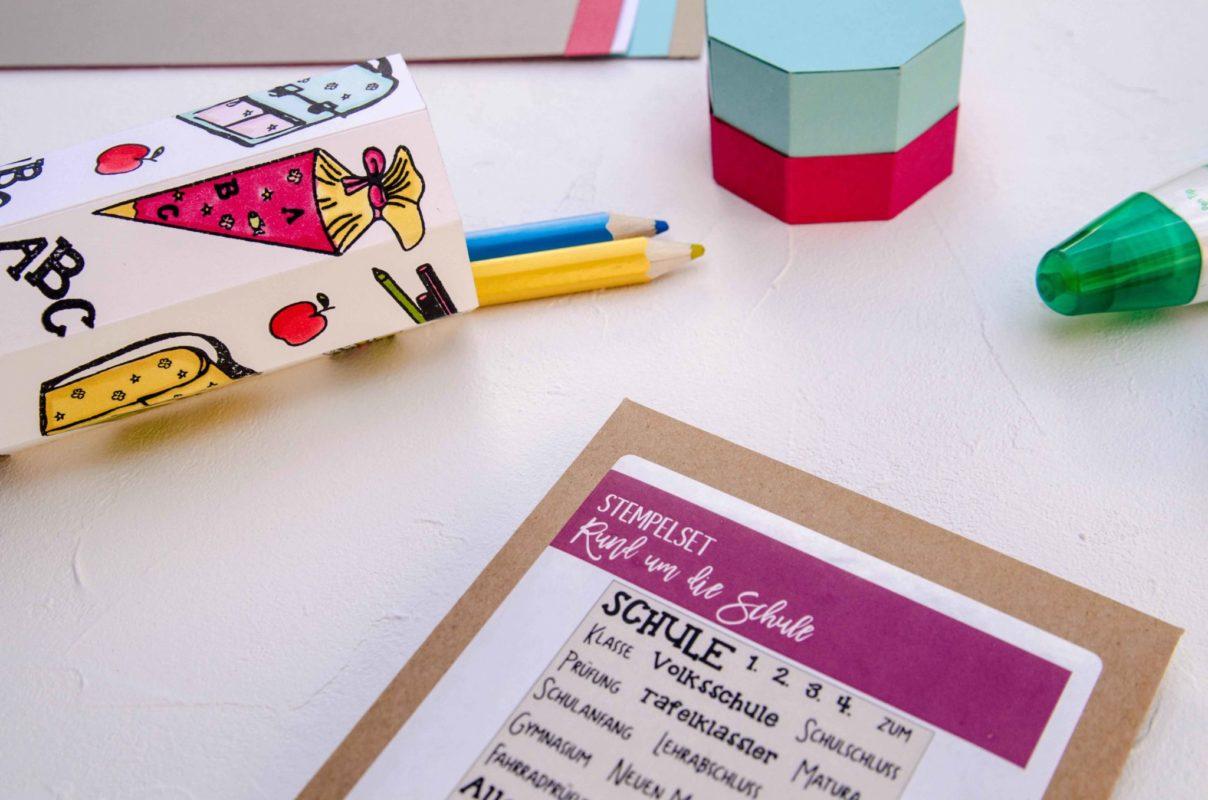 Süße Stiftebox zum Schulbeginn | Unsere kleine Bastelstube - DIY Bastelideen für Feste & Anlässe