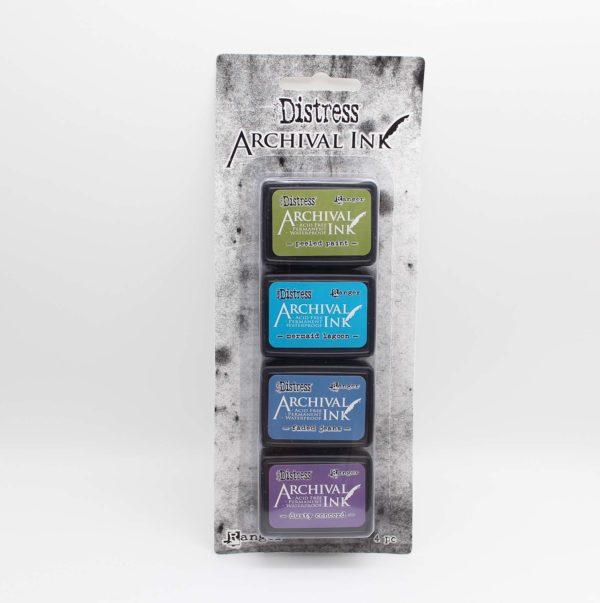 Mini Stempelkissen 4 Farben Ranger Tim Holtz distress archival ink pad kit #2   Unsere kleine Bastelstube - DIY Bastelideen für Feste & Anlässe