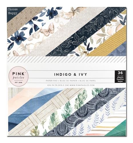 """Pink Paislee - Indigo and Ivy - Paper Pad 6""""x6""""   Unsere kleine Bastelstube - DIY Bastelideen für Feste & Anlässe"""