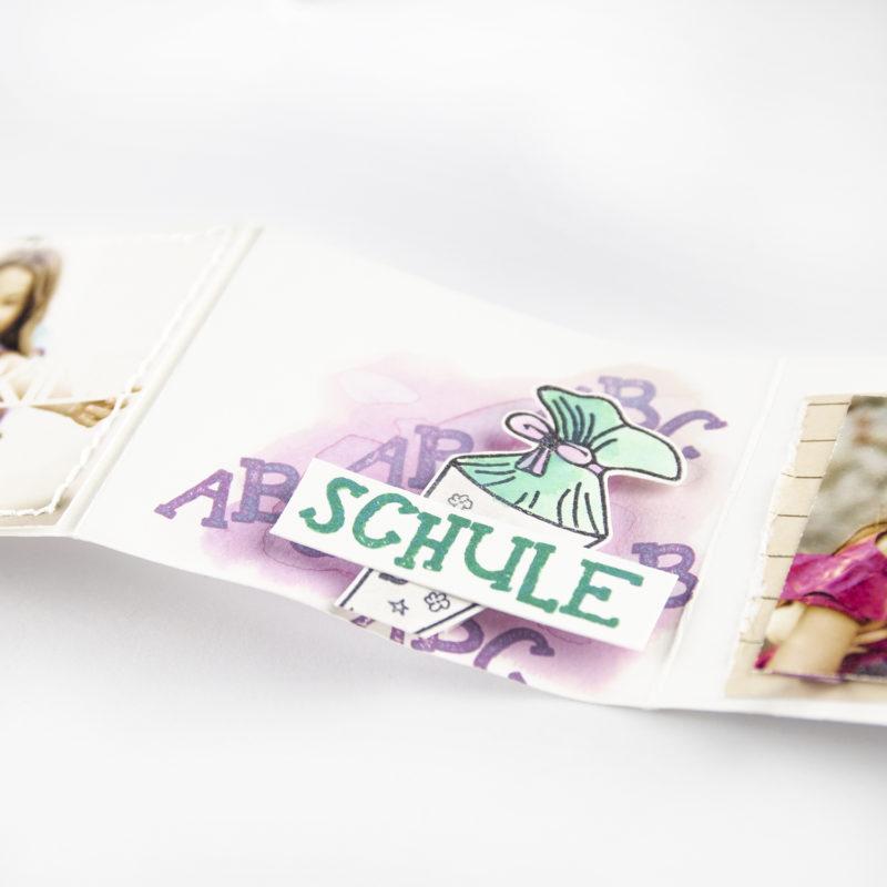 Minialbum in der Schultasche - mit Plotterfreebie   Unsere kleine Bastelstube - DIY Bastelideen für Feste & Anlässe