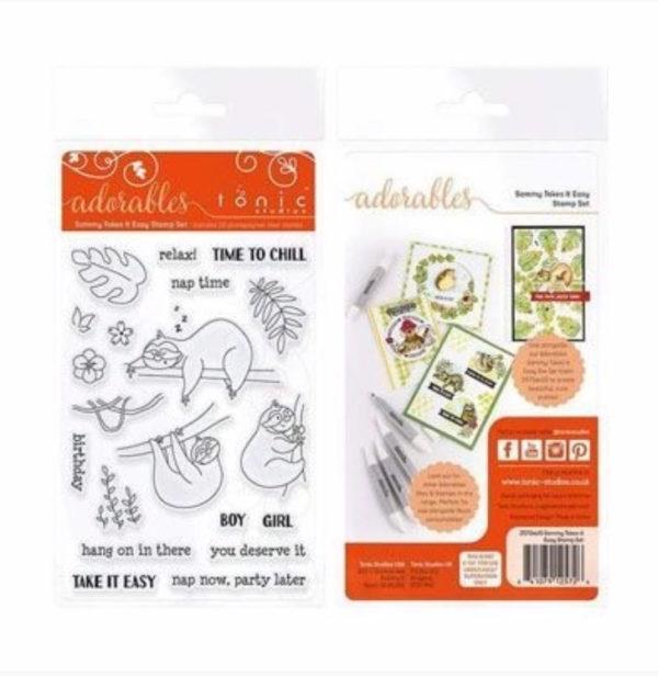 Tonic Studios Essentials adorables Faultier Clear Stamps | Unsere kleine Bastelstube - DIY Bastelideen für Feste & Anlässe