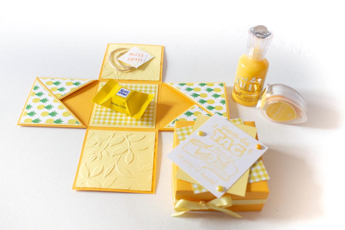 Explosionsbox zum Geburtstag   Unsere kleine Bastelstube - DIY Bastelideen für Feste & Anlässe