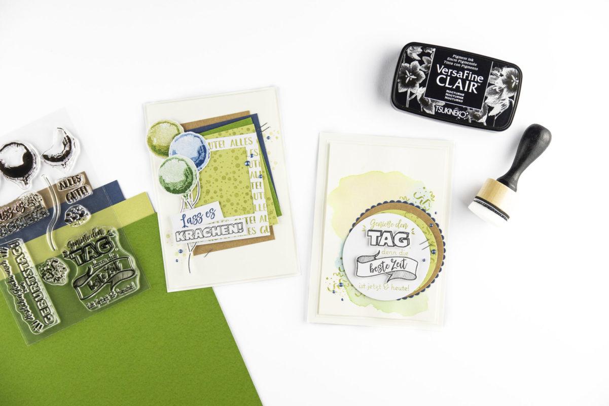 Karten zum Geburtstag | Unsere kleine Bastelstube - DIY Bastelideen für Feste & Anlässe