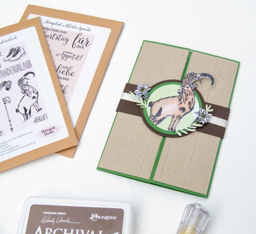Gatefoldkarte - mit dem Stempelset Wanderurlaub! (Alles Gute zum Geburtstag) | Unsere kleine Bastelstube - DIY Bastelideen für Feste & Anlässe