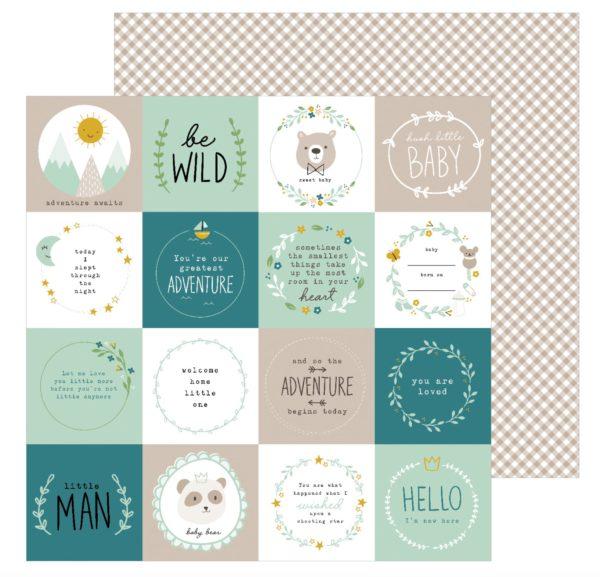 Pebbles Designpapier Peek-A-Boo you - 12x12'' Junge - Be Wild | Unsere kleine Bastelstube - DIY Bastelideen für Feste & Anlässe