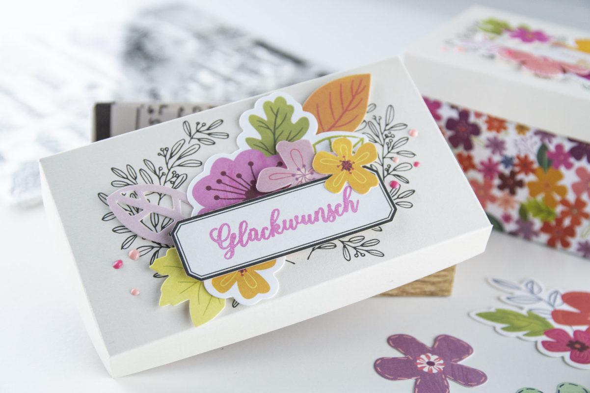DIY - Bunte Blüten Verpackung in 2. Größen selber machen! | Unsere kleine Bastelstube - DIY Bastelideen für Feste & Anlässe