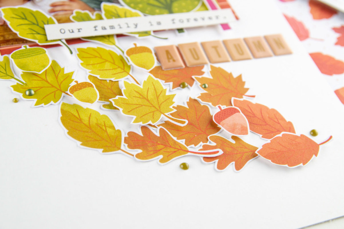Viele Bunte Blätter, Scrapbooking Layout! | Unsere kleine Bastelstube - DIY Bastelideen für Feste & Anlässe