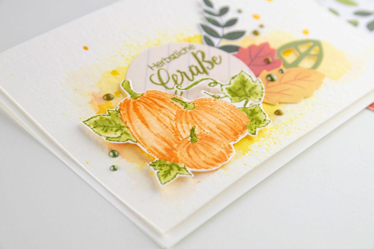 Herbstliche Aquarellkarte. | Unsere kleine Bastelstube - DIY Bastelideen für Feste & Anlässe