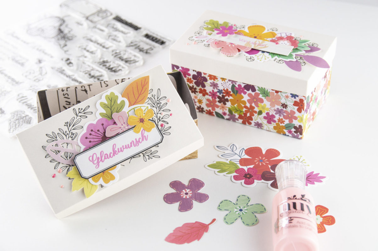 DIY - Bunte Blüten Verpackung in 2. Größen selber machen!   Unsere kleine Bastelstube - DIY Bastelideen für Feste & Anlässe