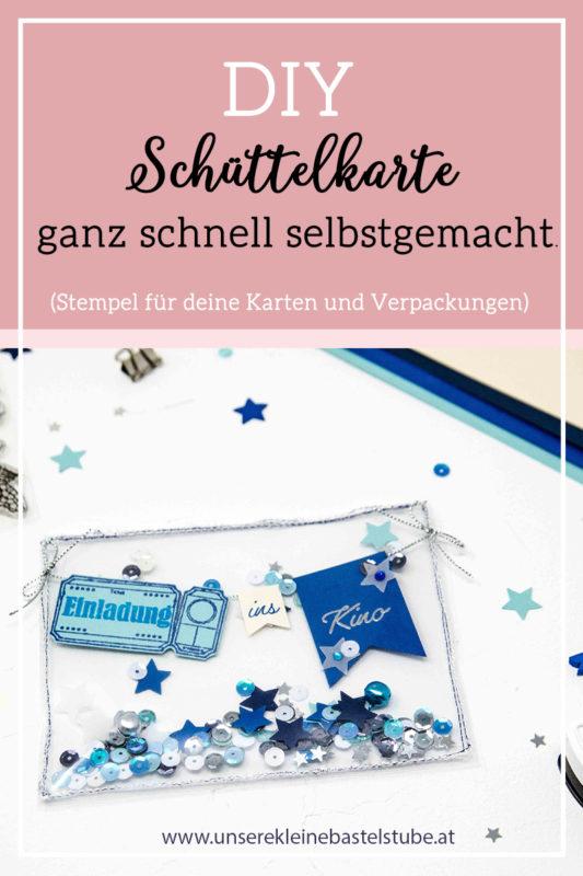 DIY - Transparente Schüttelkarte (Einladung ins Kino). | Unsere kleine Bastelstube - DIY Bastelideen für Feste & Anlässe