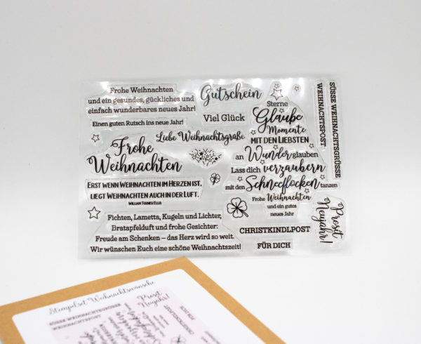 Stempelset Weihnachtswünsche - Stempelstube | Unsere kleine Bastelstube - DIY Bastelideen für Feste & Anlässe