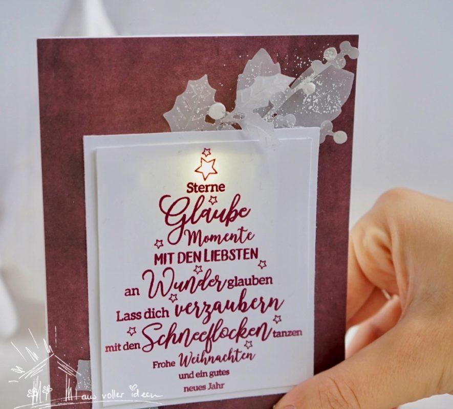 LED-Karten zu Weihnachten | Unsere kleine Bastelstube - DIY Bastelideen für Feste & Anlässe