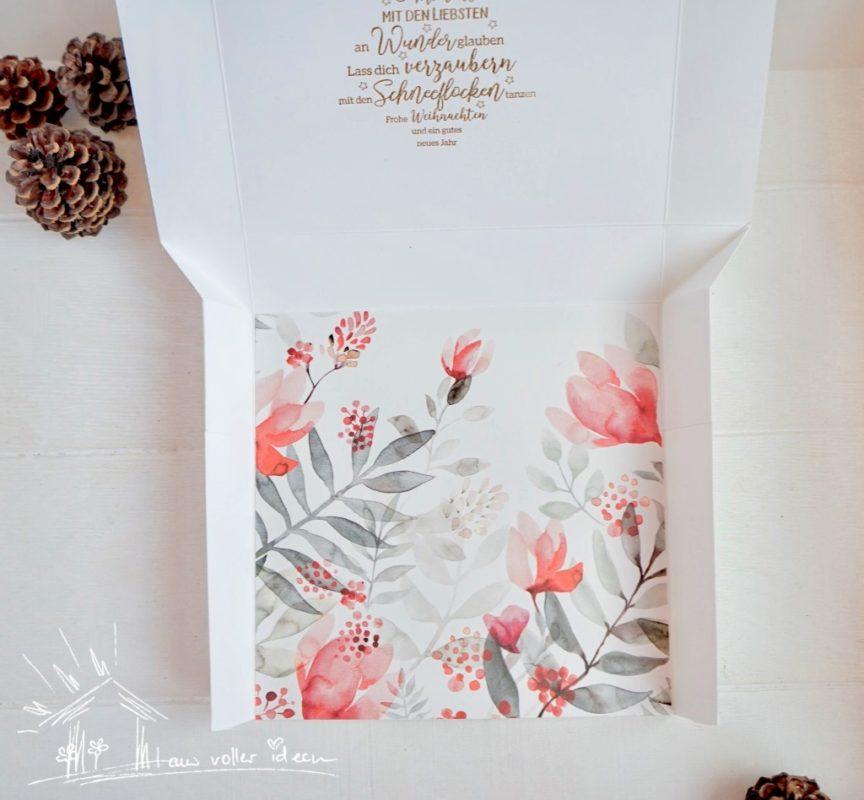 Selbstschließende Verpackung für Weihnachten | Unsere kleine Bastelstube - DIY Bastelideen für Feste & Anlässe