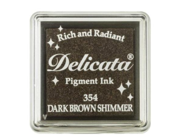 Delicata Stempelkissen Dark Brown Shimmer | Unsere kleine Bastelstube - DIY Bastelideen für Feste & Anlässe
