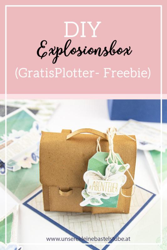 Explosionsbox Rucksack! - (Plotter Freebie) | Unsere kleine Bastelstube - DIY Bastelideen für Feste & Anlässe