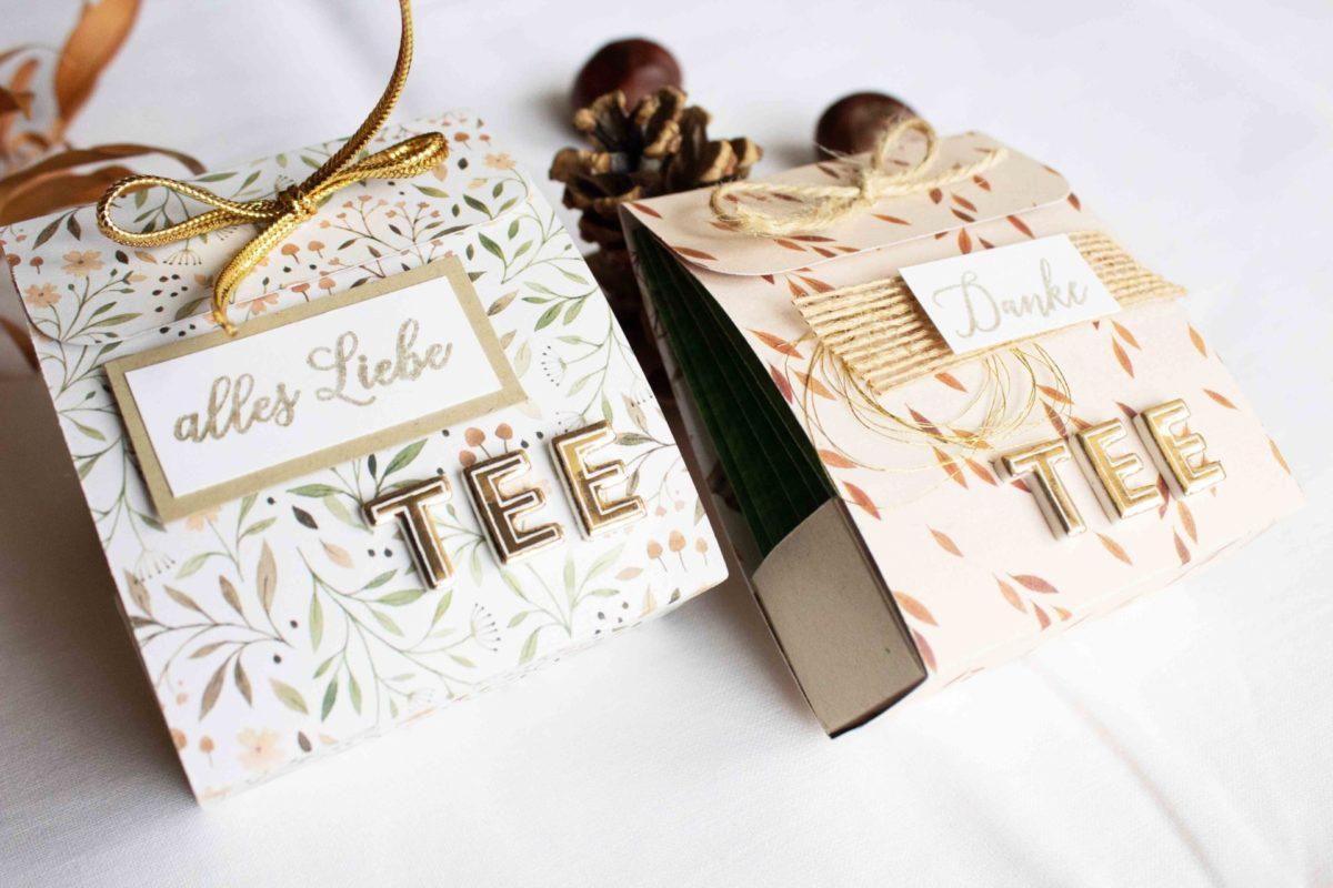 DIY - Verpackung für deinen Lieblingstee.   Unsere kleine Bastelstube - DIY Bastelideen für Feste & Anlässe