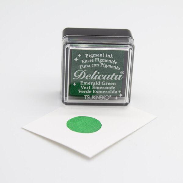 Delicata Stempelkissen Emerald Green