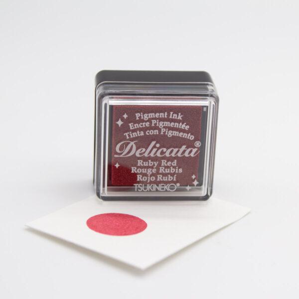 Delicata Stempelkissen Ruby Red