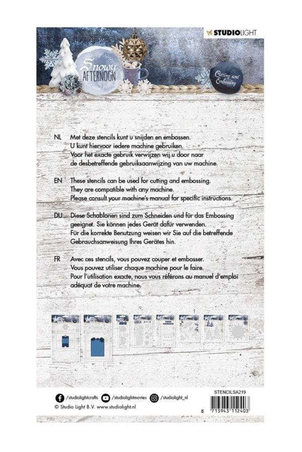 Studio Light - Weihnachts Embossing die cut Snowy Afternoon Nr.219 | Unsere kleine Bastelstube - DIY Bastelideen für Feste & Anlässe