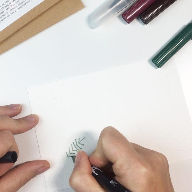 Watercolor trifft Stempel | Unsere kleine Bastelstube - DIY Bastelideen für Feste & Anlässe