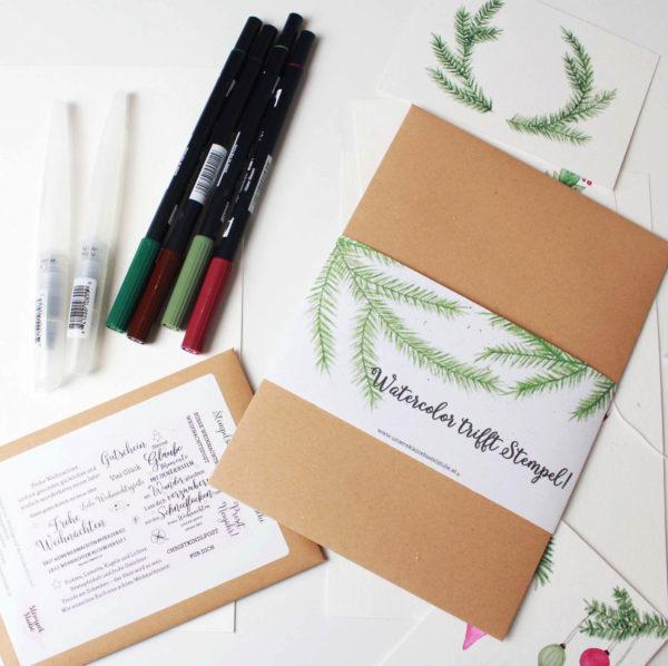 Watercolor trifft Stempel Box | Unsere kleine Bastelstube - DIY Bastelideen für Feste & Anlässe