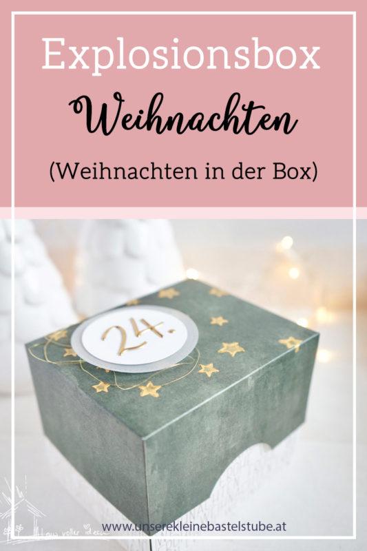 Fenster #8 Explosionsbox Weihnachten | Unsere kleine Bastelstube - DIY Bastelideen für Feste & Anlässe