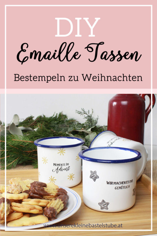 Fenster#11 Bestempeln von Emaille Tasse | Unsere kleine Bastelstube - DIY Bastelideen für Feste & Anlässe