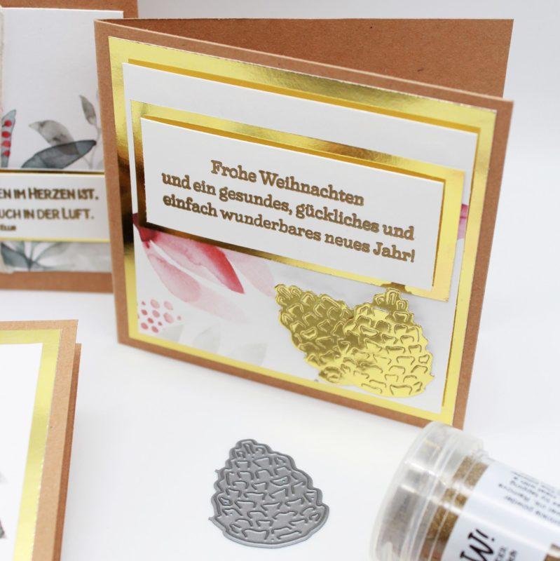 Fenster #9 Schnell gemachte Weihnachtskarten | Unsere kleine Bastelstube - DIY Bastelideen für Feste & Anlässe
