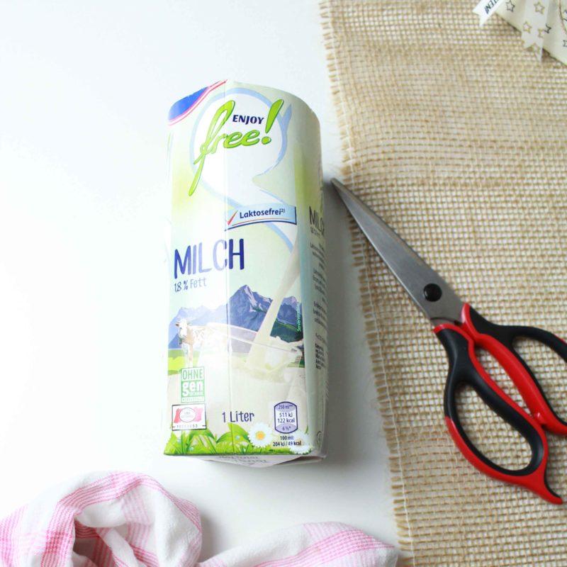 Fenster #22 Milchkarton Übertopf | Unsere kleine Bastelstube - DIY Bastelideen für Feste & Anlässe