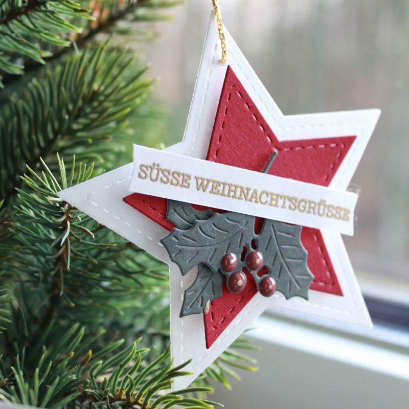 Fenster #7 Stern Anhänger für deine Geschenke   Unsere kleine Bastelstube - DIY Bastelideen für Feste & Anlässe