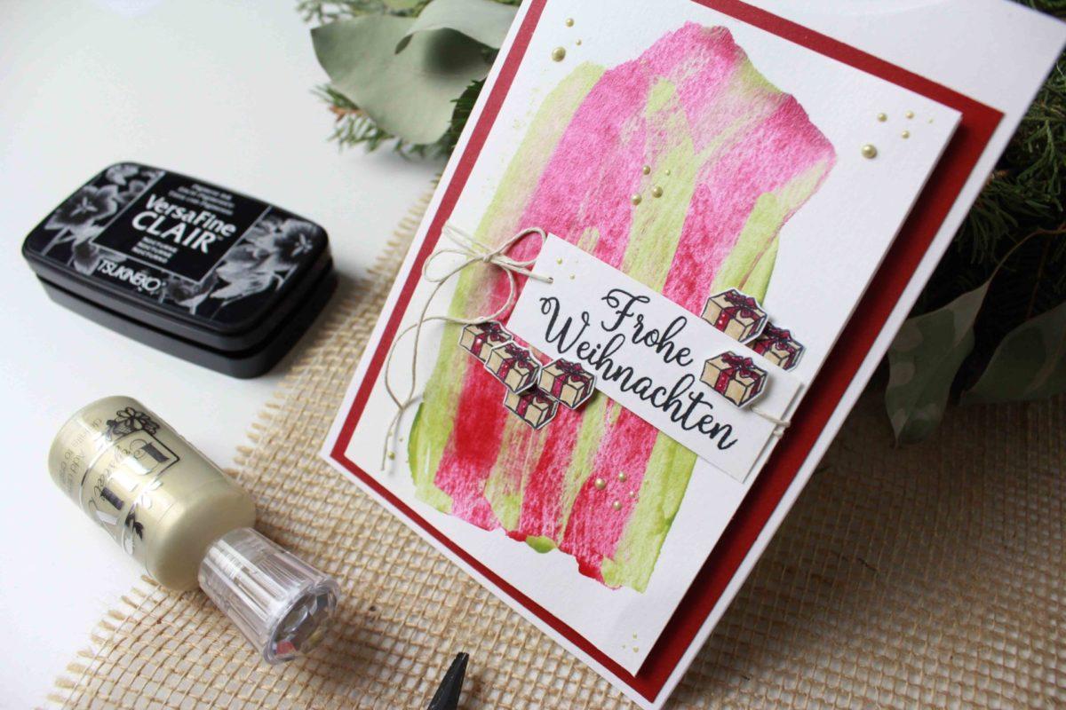 Weihnachtskarte mit Nuvo Drops