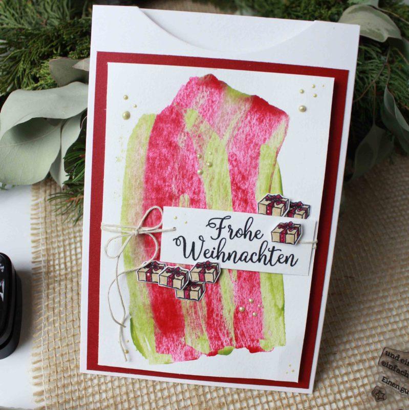 Fenster#18 Weihnachtskarte mit Nuvo Drops | Unsere kleine Bastelstube - DIY Bastelideen für Feste & Anlässe