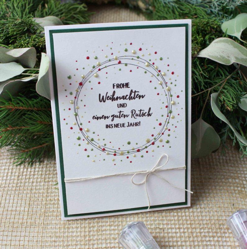 Fenster #16 Weihnachtskarte mit den Nuvo Drops | Unsere kleine Bastelstube - DIY Bastelideen für Feste & Anlässe