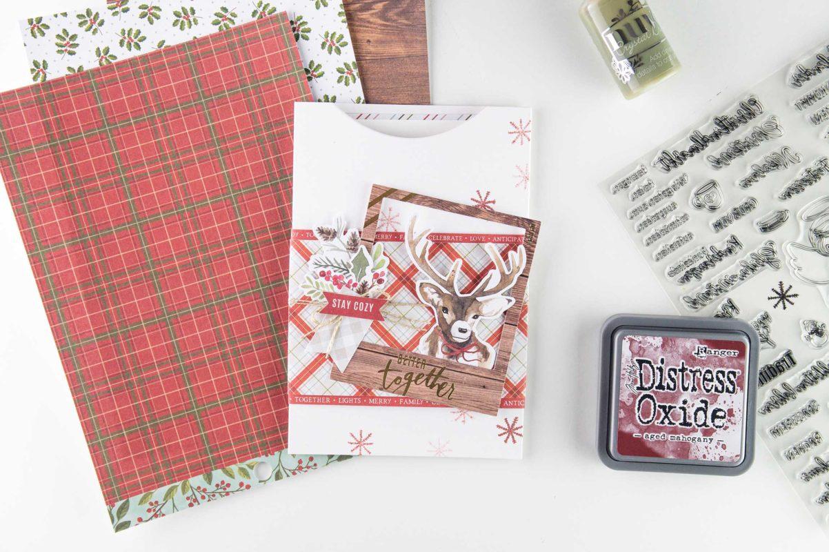 Fenster #5 Schnelle Weihnachtskarte | Unsere kleine Bastelstube - DIY Bastelideen für Feste & Anlässe