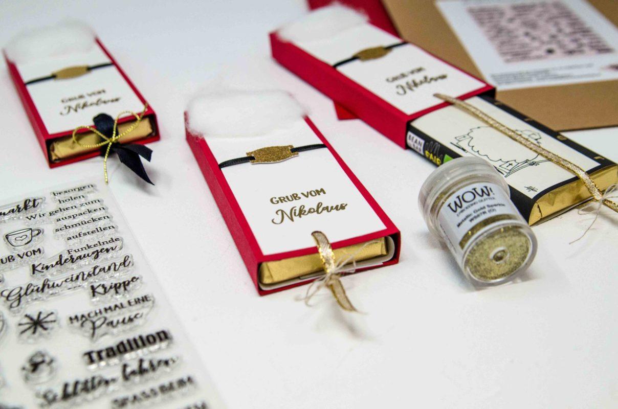 Fenster #6 Ziehschokoladen Verpackung zum Nikolaus | Unsere kleine Bastelstube - DIY Bastelideen für Feste & Anlässe